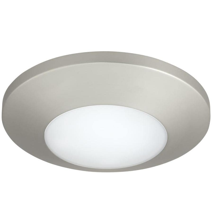 Progress Lighting 7.5-in W Brushed Nickel  LED Flush Mount Light ENERGY STAR