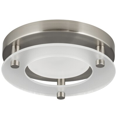 7 24 In Brushed Nickel Transitional Led Flush Mount Light Energy Star