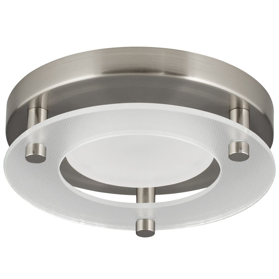 Progress Lighting 5.26-in W Brushed Nickel LED Flush Mount Light