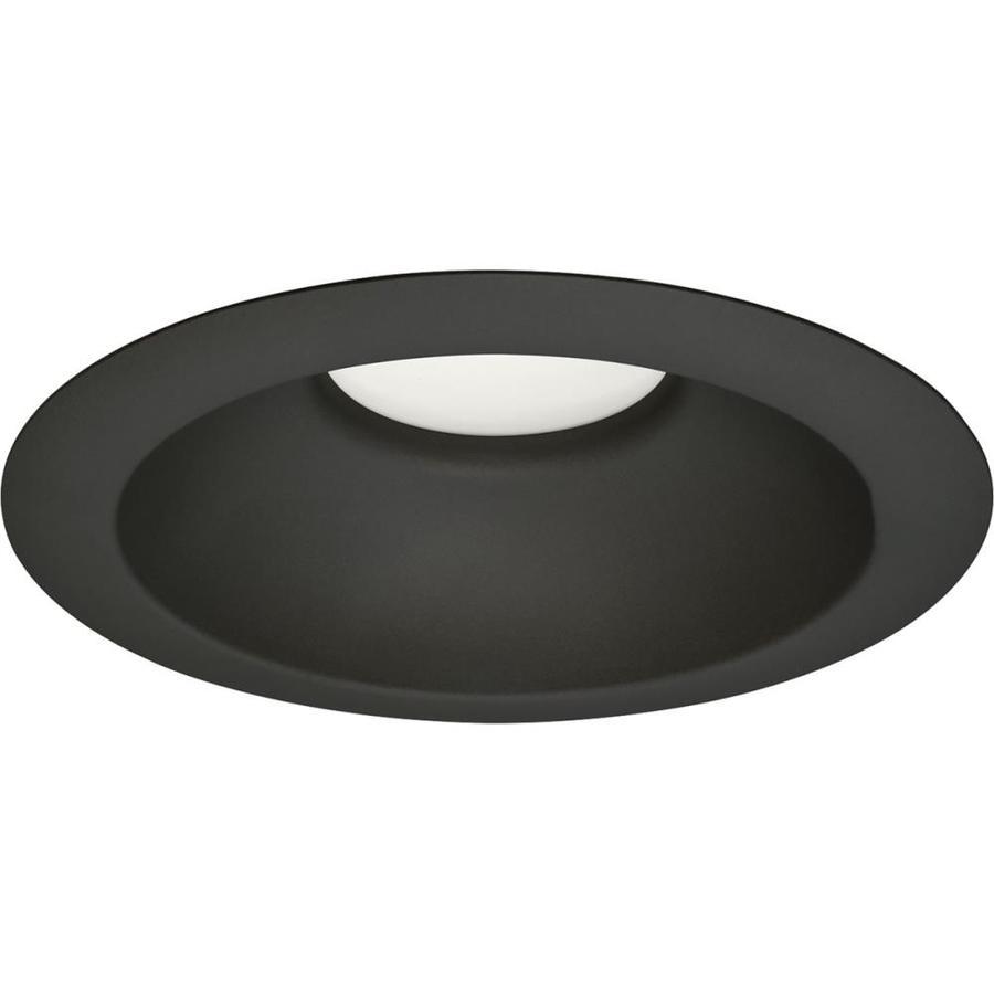 shop progress lighting led recessed black open recessed light trim
