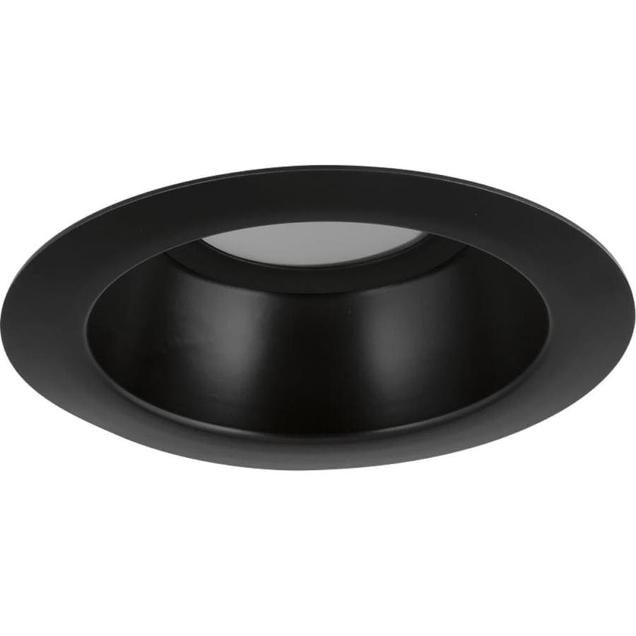 Progress Lighting LED Recessed Black Open Recessed Light Trim (Fits Housing Diameter: 5-in)