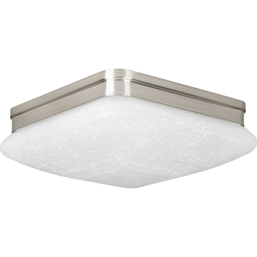 Progress Lighting Appeal 11-in W Brushed Nickel Integrated Flush Mount Light
