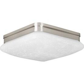 Progress Lighting Appeal 11-in Brushed Nickel Transitional LED Flush Mount Light ENERGY STAR