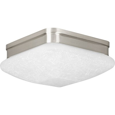 Eal 9 In Brushed Nickel Transitional Led Flush Mount Light Energy Star