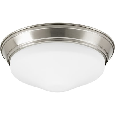 11 In Brushed Nickel Transitional Led Flush Mount Light Energy Star