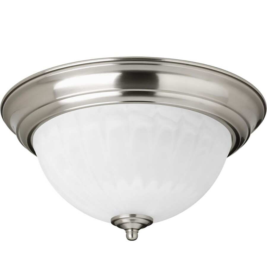 Progress Lighting 11.375-in W Brushed Nickel LED Flush Mount Light