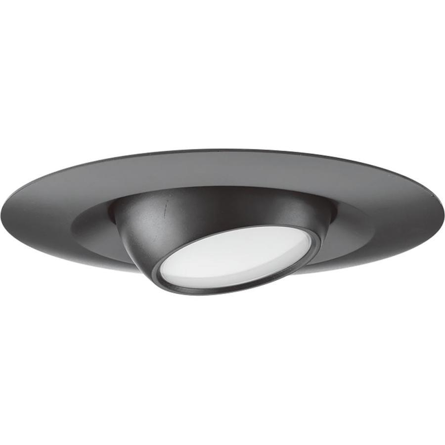 shop progress lighting led recessed black eyeball recessed light