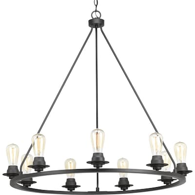 Debut 9 Light Graphite Candle Chandelier