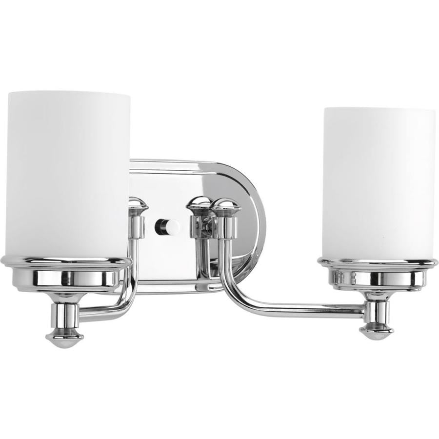 Progress Lighting Glide 2-Light 7.75-in Polished Chrome Vanity Light