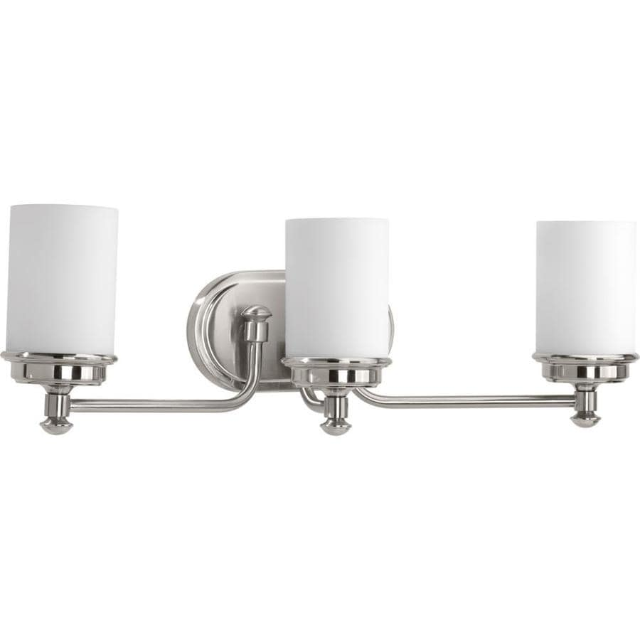 Progress Lighting Glide 3-Light 7.75-in Brushed Nickel Vanity Light