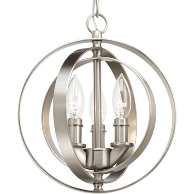 Equinox Brushed Nickel Pendant Light Transitional Orb