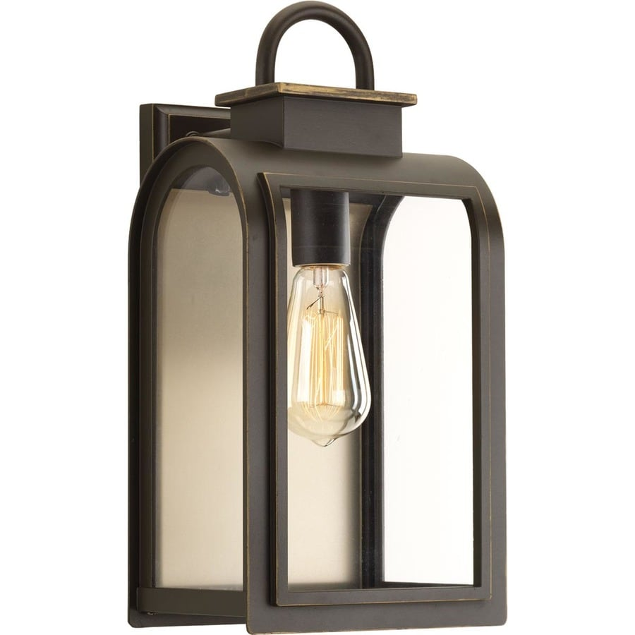 Progress Lighting Refuge 16 In H Oil Rubbed Bronze Medium Base E 26 Outdoor Wall Light
