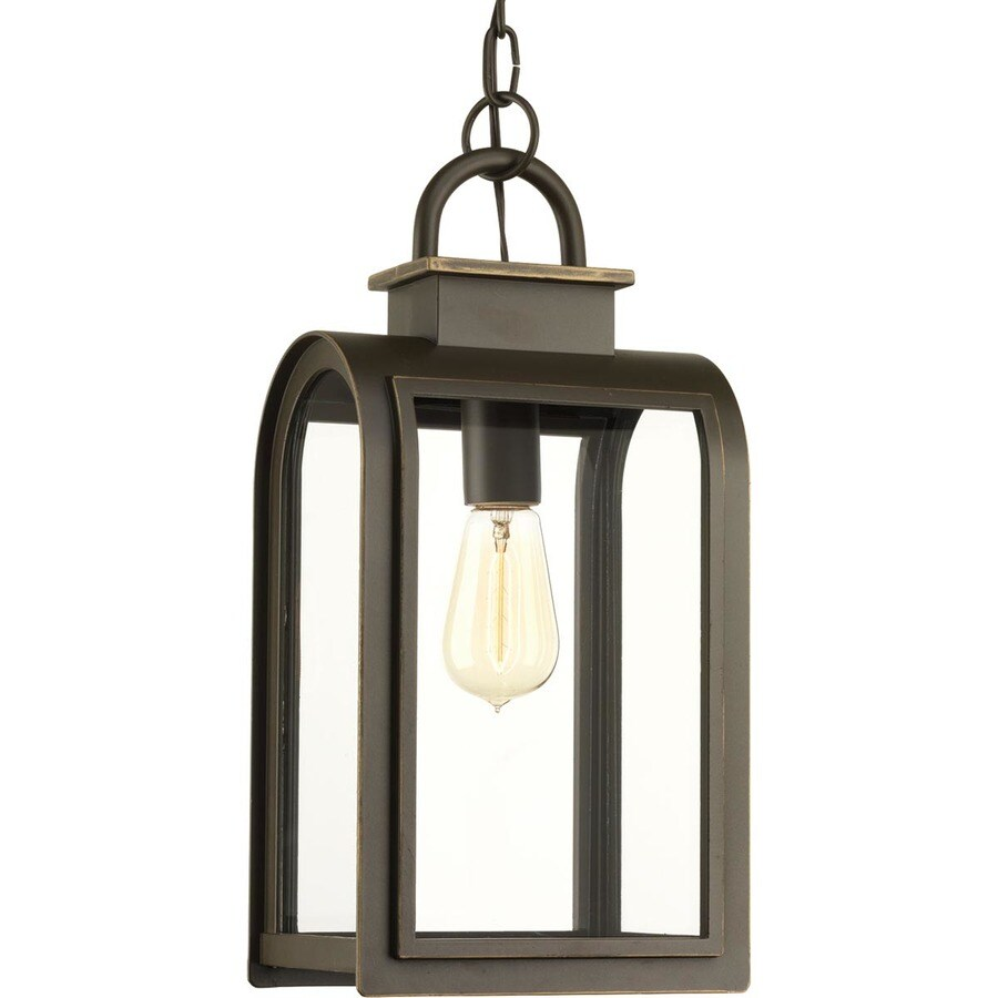 Progress Lighting Refuge 16-in Oil Rubbed Bronze Outdoor Pendant Light