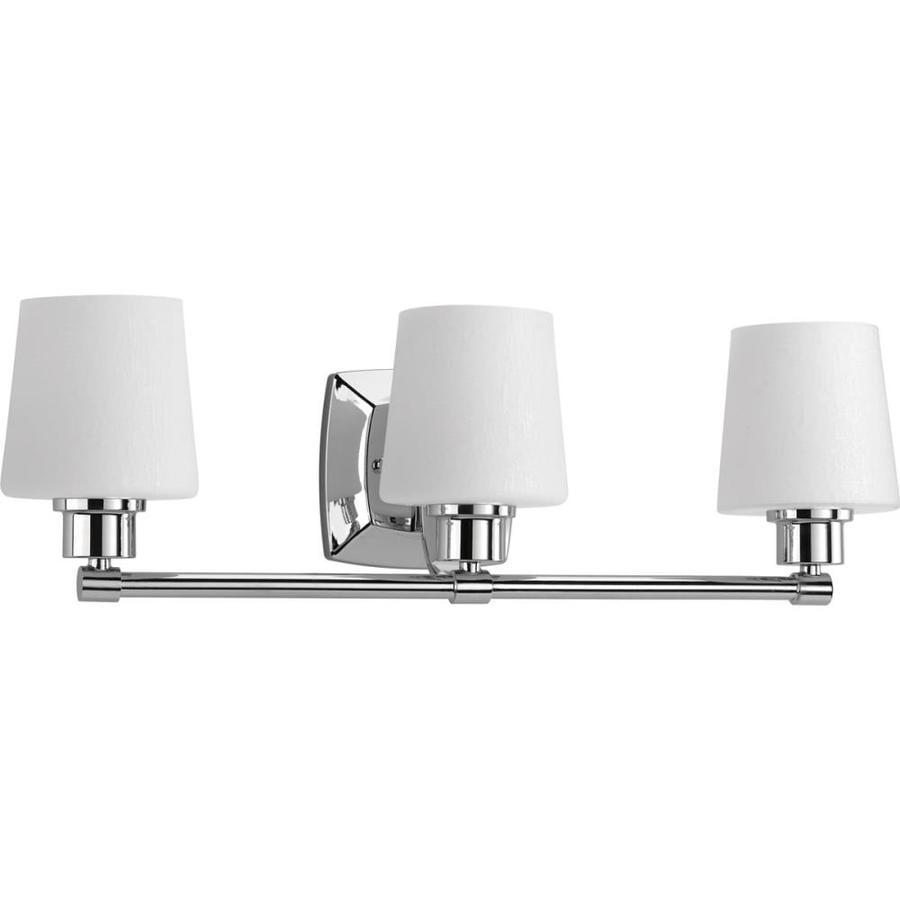 Progress lighting glance 3 light 24 in polished chrome - Polished chrome bathroom lighting ...