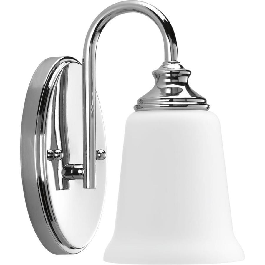 Progress lighting wander 1 light polished chrome - Polished chrome bathroom lighting ...