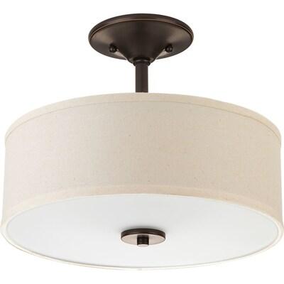 Inspire 13 In Antique Bronze Flush Mount Light