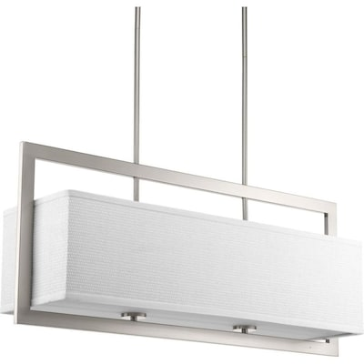 Harmony 4 Light Brushed Nickel Modern Contemporary Linear Chandelier