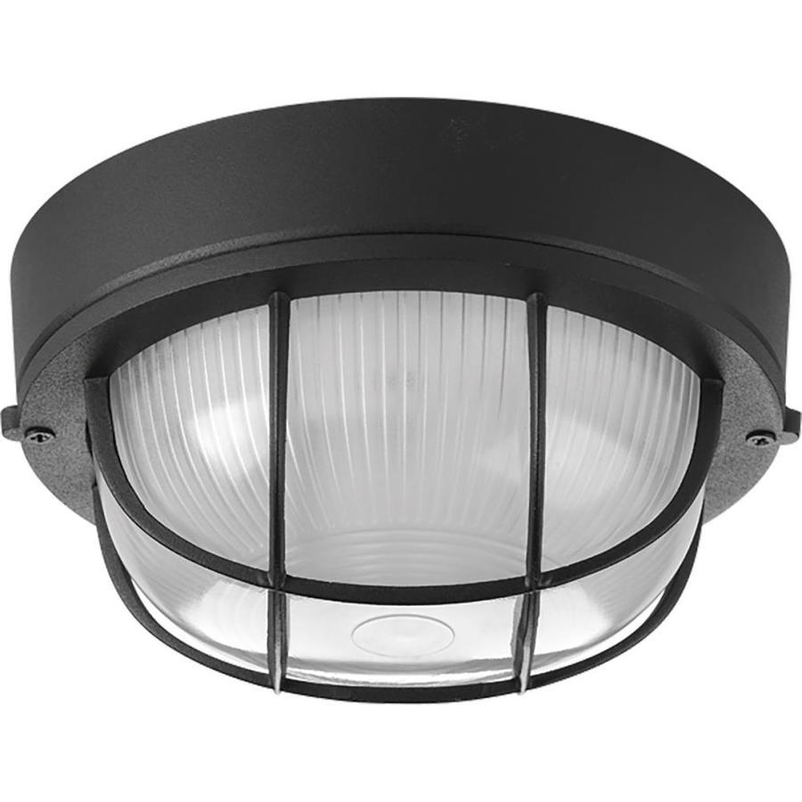 shop progress lighting bulkheads w black outdoor flush mount light at. Black Bedroom Furniture Sets. Home Design Ideas