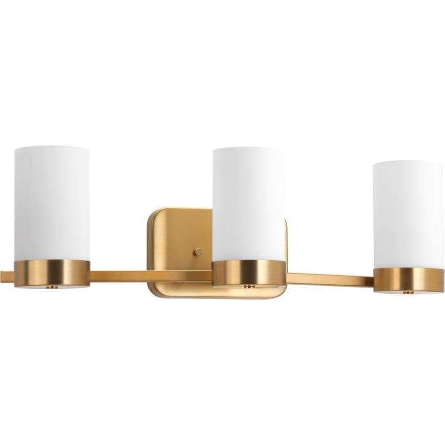 Progress Lighting Elevate 3-Light 7.5-in Brushed Bronze Cylinder Vanity Light