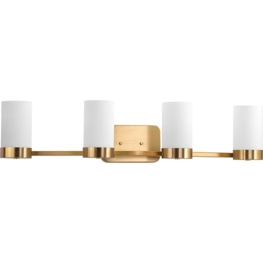 Shop Progress Lighting Elevate 4 Light 7 5 In Brushed Bronze Vanity Light At