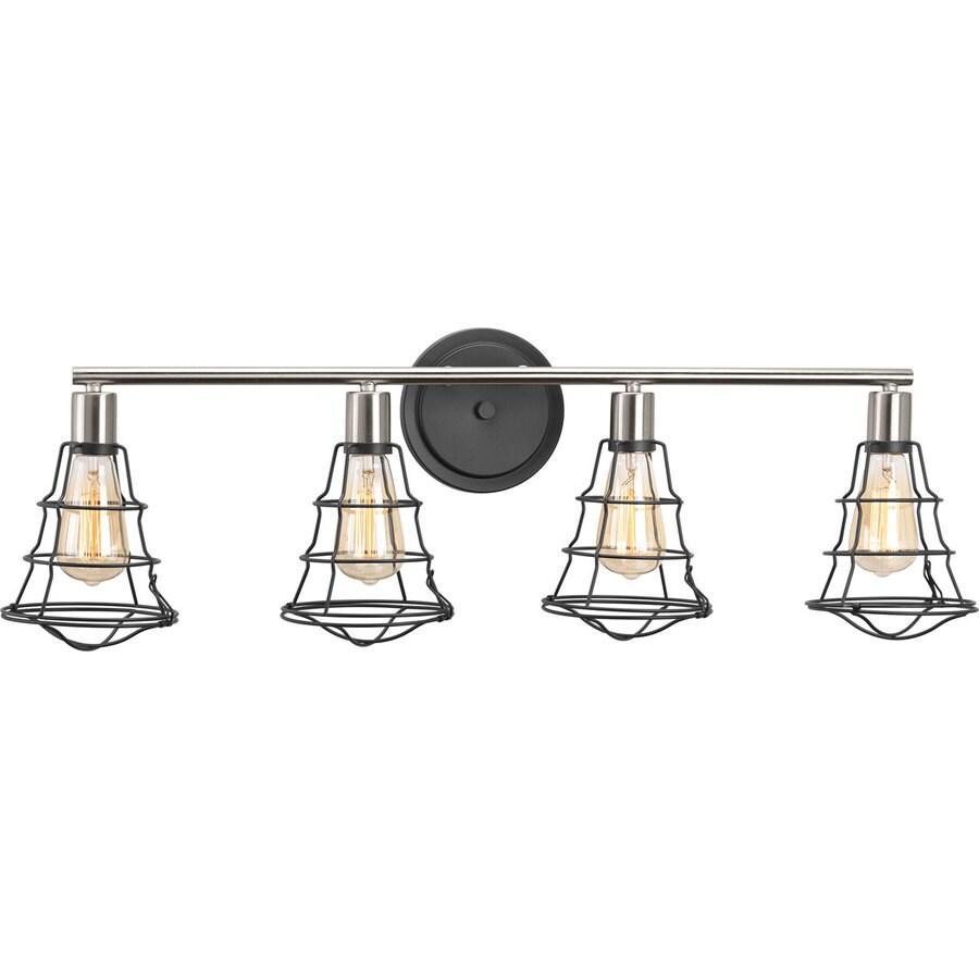 Progress Lighting -Gauge 4-Light 11-in Graphite Vanity Light