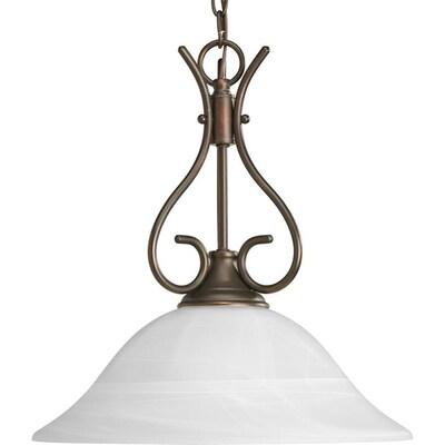Alabaster Gl Antique Bronze Single Transitional White Pendant Light