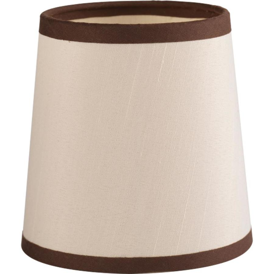 Progress Lighting Allaire 5-in x 5-in Champagne Silk Fabric Bell Lamp Shade