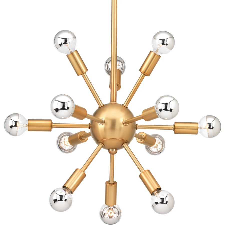 Progress Lighting Ion 20.5-in 12-Light Brushed Bronze Novelty Abstract Chandelier