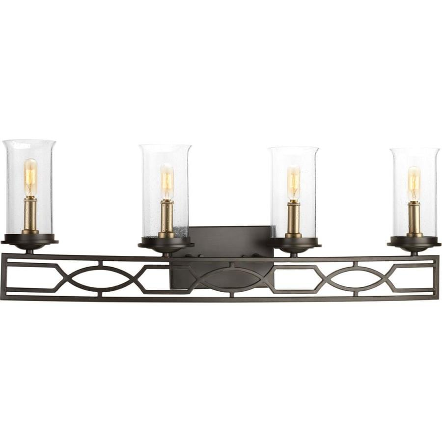 Progress Lighting Soiree 4-Light 11.5-in Antique Bronze Vanity Light