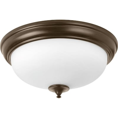 Led Alabaster 19 In Antique Bronze Transitional Flush Mount Light Energy Star