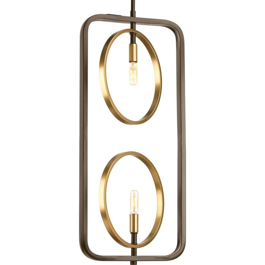 Progress Lighting Swing 12.375-in Antique Bronze Single Pendant