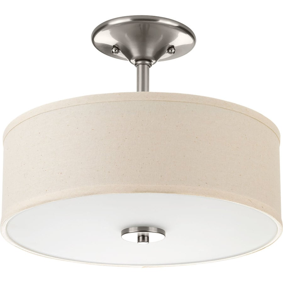 Shop Project Source 13 In W Bronze Integrated Led Ceiling: Progress Lighting Inspire 13-in Brushed Nickel