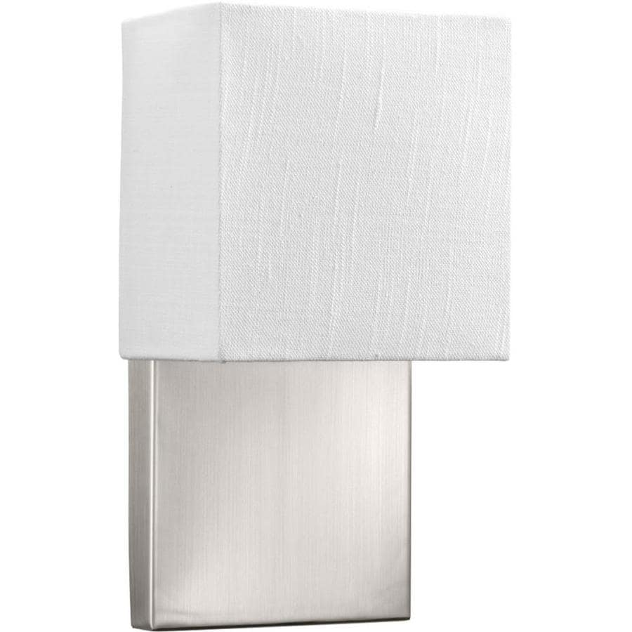 Progress Lighting LED Sconces 6.75-in W 1-Light Brushed Nickel Arm LED Wall Sconce ENERGY STAR
