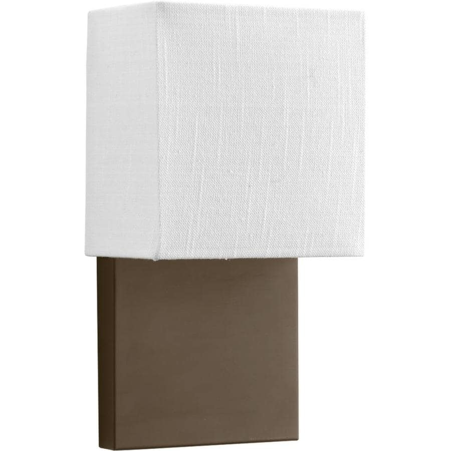 Led Wall Sconces Lowes : Shop Progress Lighting LED Sconces 6.75-in W 1-Light Architectural Bronze Arm LED Wall Sconce ...