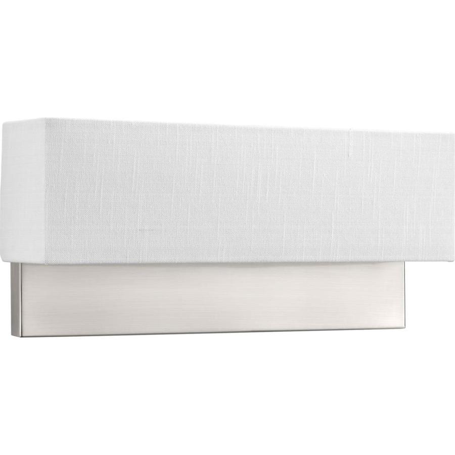 Progress Lighting LED Sconces 18-in W 2-Light Brushed Nickel Wall Wash LED Wall Sconce ENERGY STAR