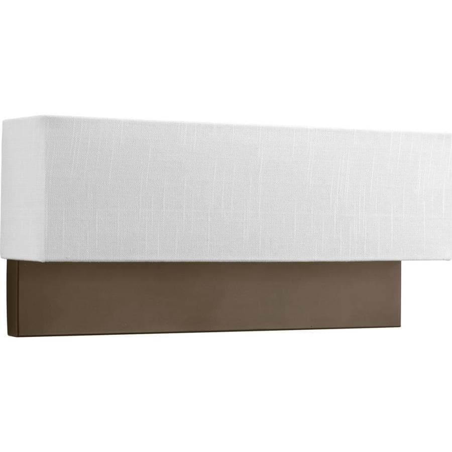 Led Wall Sconces Lowes : Shop Progress Lighting LED Sconces 18-in W 2-Light Architectural Bronze Wall Wash LED Wall ...