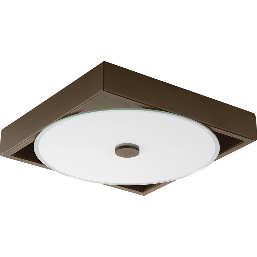 Progress Lighting Frame 12-in W 1-Light Architectural Bronze Wall Wash LED Wall Sconce ENERGY STAR