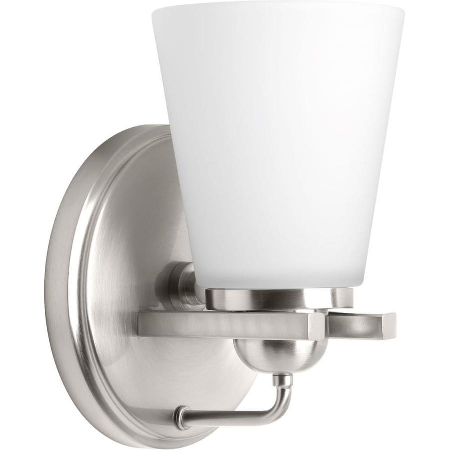 Flight Bathroom Door: Shop Progress Lighting Flight 1-Light 8.25-in Brushed