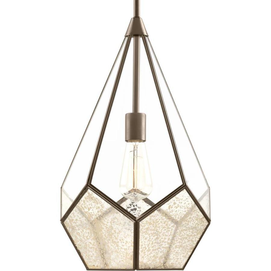 Progress Lighting Cinq 12-in Antique Bronze Single Pendant