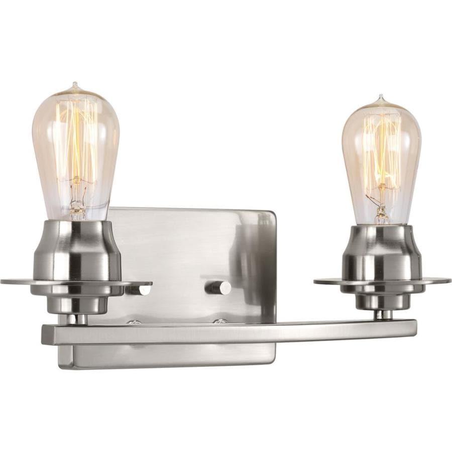 Progress Lighting Debut 2-Light 7.875-in Brushed Nickel Vanity Light