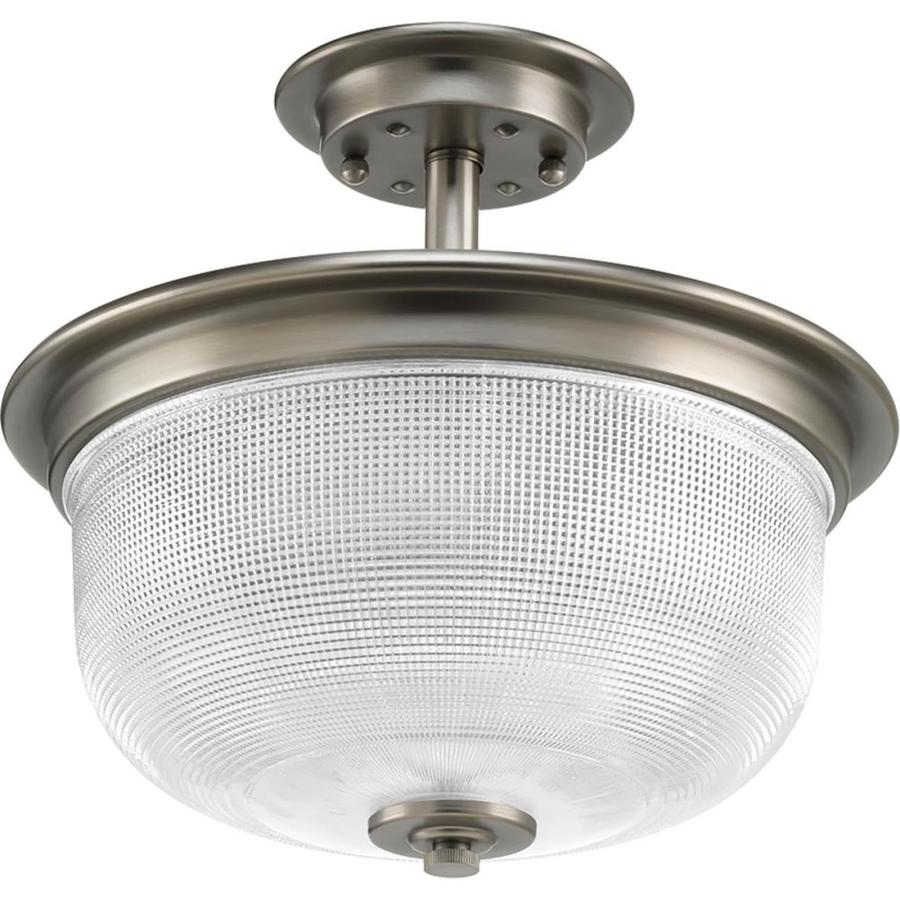 Progress Lighting Archie Collection 2 Light Antique Nickel: Progress Lighting Archie 12.38-in Antique Nickel