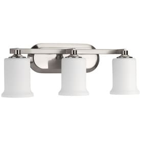 Shop vanity lights at lowes progress lighting alux 3 light 2175 in brushed nickel bell vanity light mozeypictures Choice Image