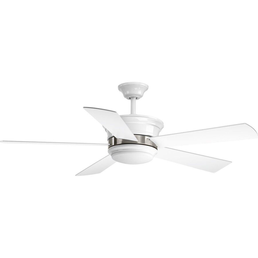 Progress Lighting Harranvale 54 In White Led Indoor Ceiling Fan With Light Kit And Remote