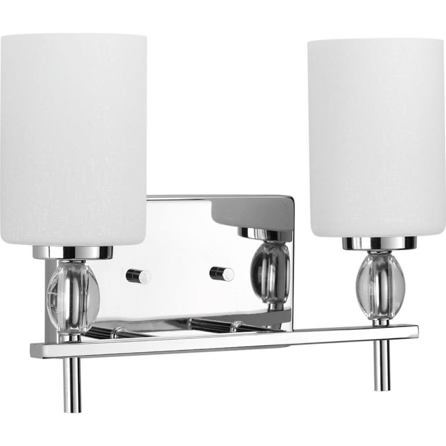 Progress Lighting Status 2-Light 10.125-in Polished Chrome Vanity Light