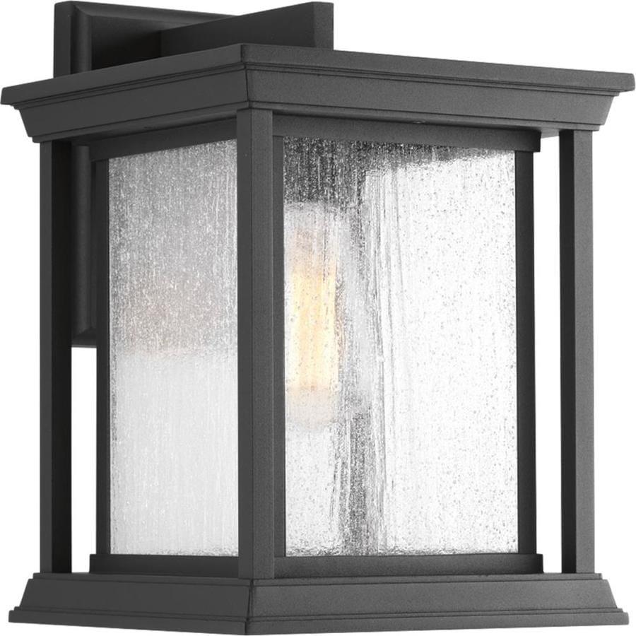 Progress Lighting Endicott 12.5-in H Black Medium Base (E-26) Outdoor Wall Light