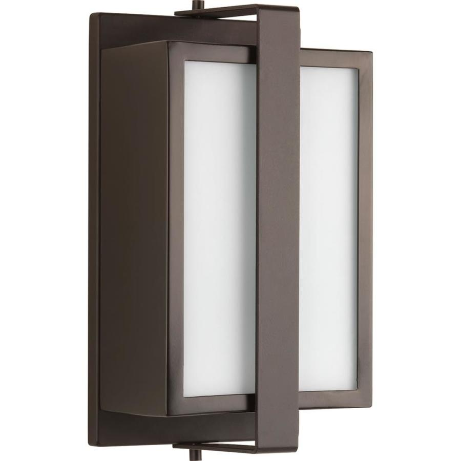 Progress Lighting Diverge 10.875-in H Architectural Bronze Medium Base (E-26) Outdoor Wall Light