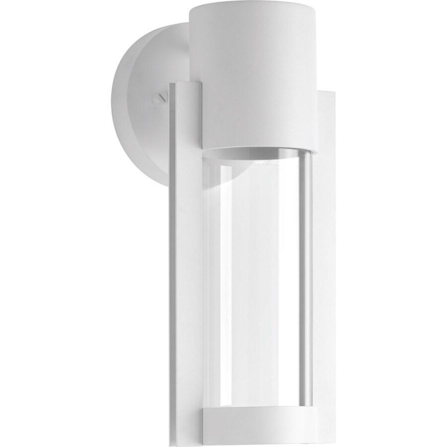 Progress Lighting Z-1030 12-in H White LED Outdoor Wall Light ENERGY STAR