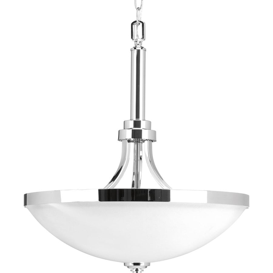 Progress Lighting Topsail Polished Chrome Transitional Etched Gl Pendant