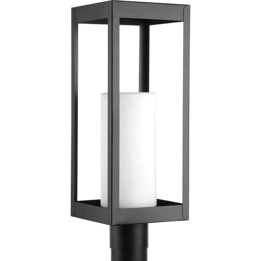 Progress Lighting Patewood 19.375-in H Black Post Light