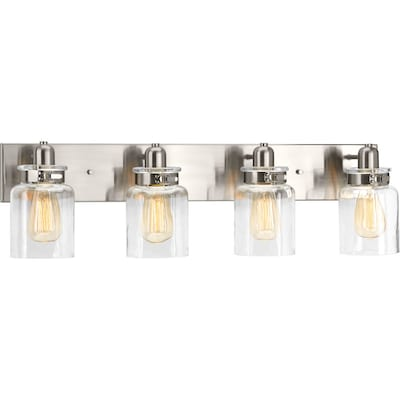 Calhoun 4 Light Nickel Transitional Vanity